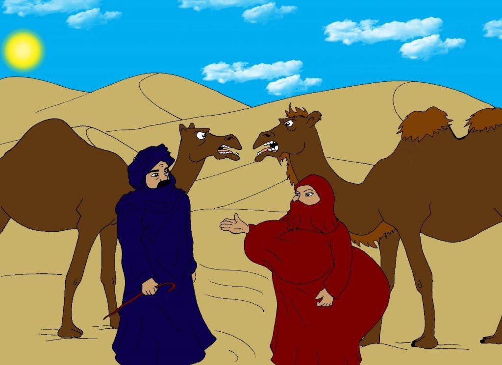 Le chameau et le dromadaire